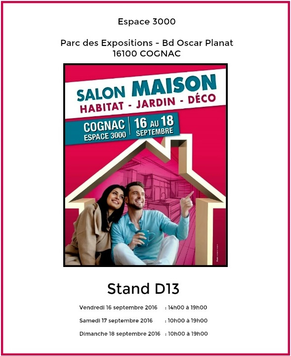 Salon de la maison cognac septembre 2016 for Salon de la photo 2016